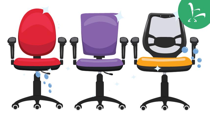 lavar sillas de escritorio
